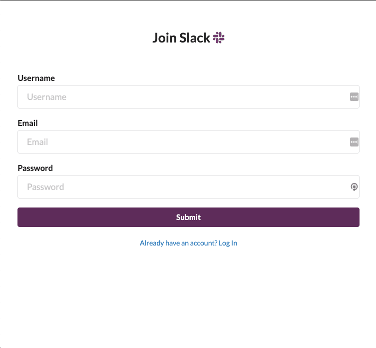 Register page UI