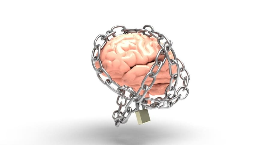 brain with chains
