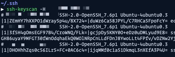 inserted ip address result