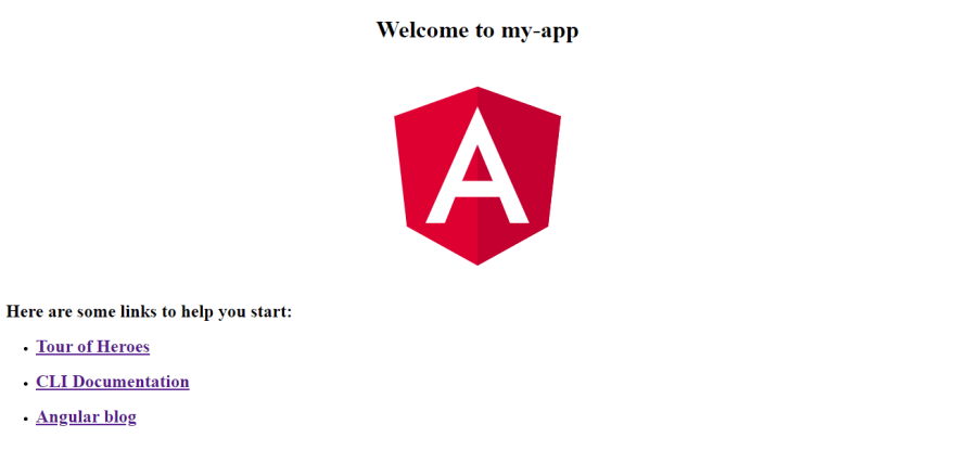 Angular 8 home page