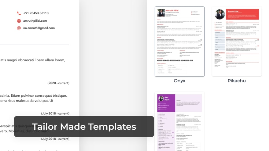 Tailor Made Templates