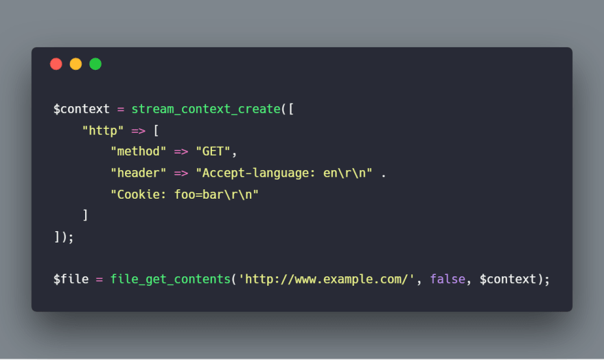 Using Headers & Cookies with PHP's file_get_contents