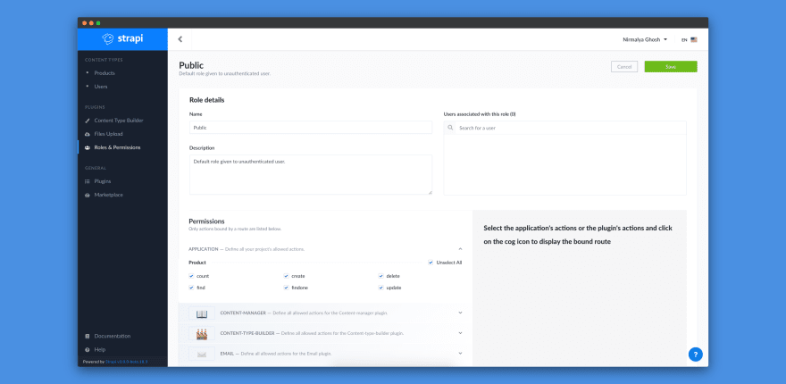 Update permissions for Product content-type