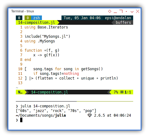 Julia - Function Composition