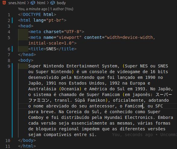 arquivo html com as modificações