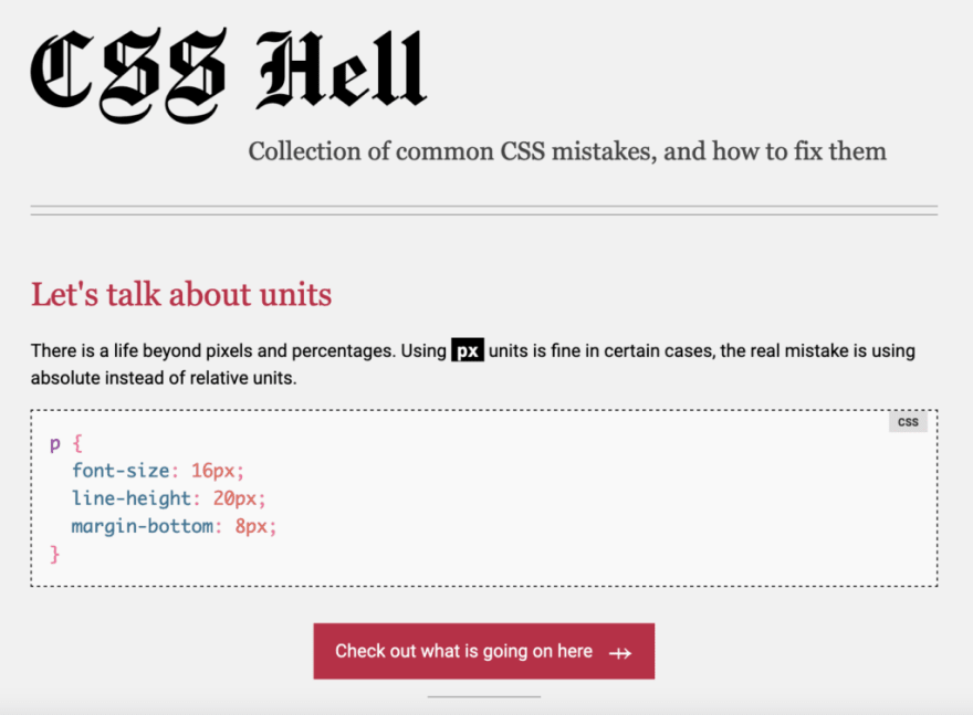 css hell
