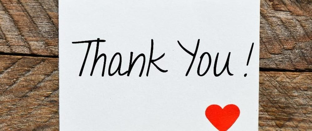 Cover image for Thank you!
