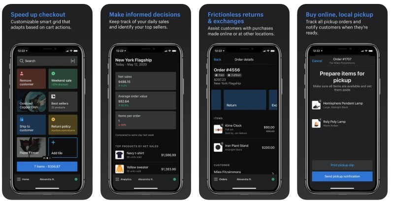 React Native apps: Shopify Point of Sale app screenshots