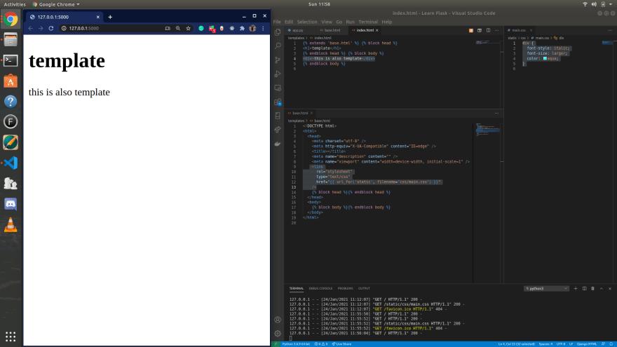 VSCode screenshot of error.