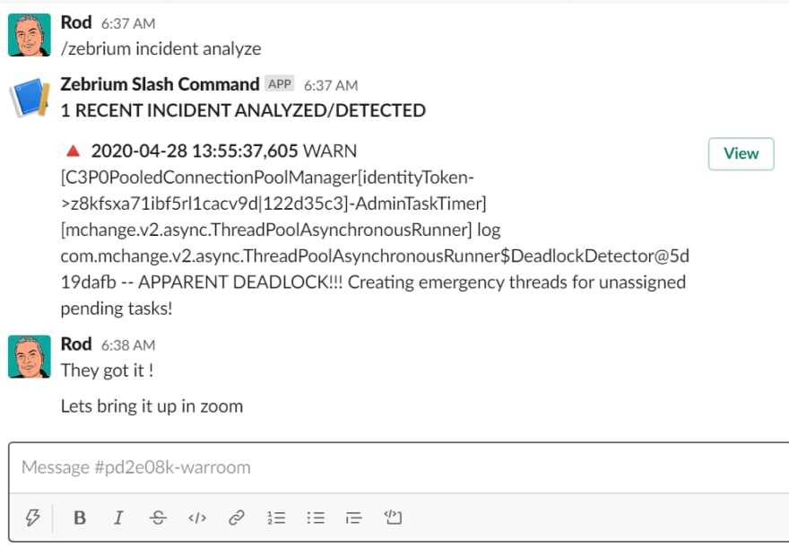 PagerDuty with Zebrium to augment incidents with root cause 2