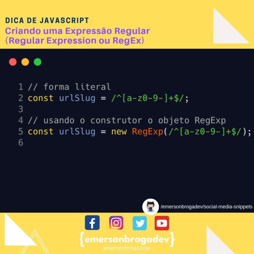 Criando uma Expressão Regular (Regular Expression ou RegEx)