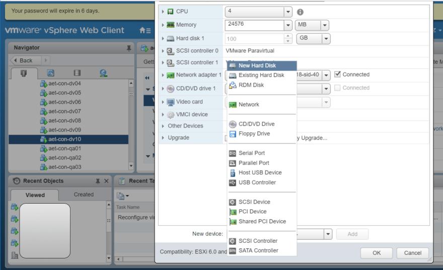 Add hard disk to VMware CentOS 7 VM DEV Community </p>                     </div>   <!--bof Product URL --> <!--eof Product URL --> <!--bof Quantity Discounts table --> <!--eof Quantity Discounts table --> </div>                        </dd> <dt class=