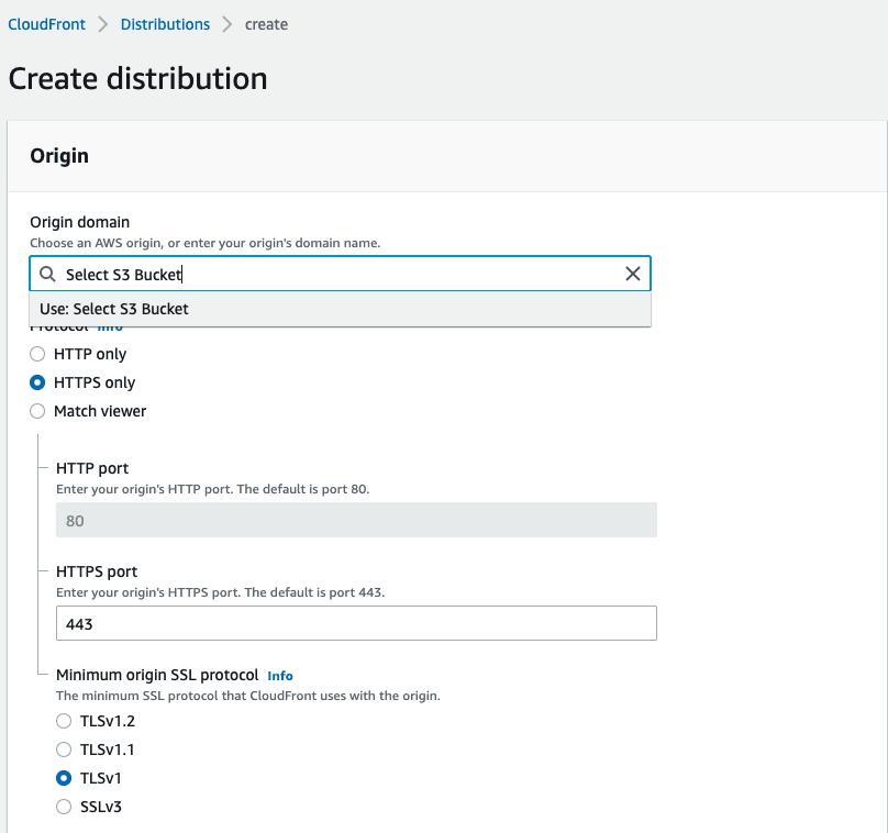 Origin settings