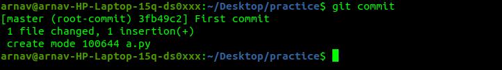 Successfull commit