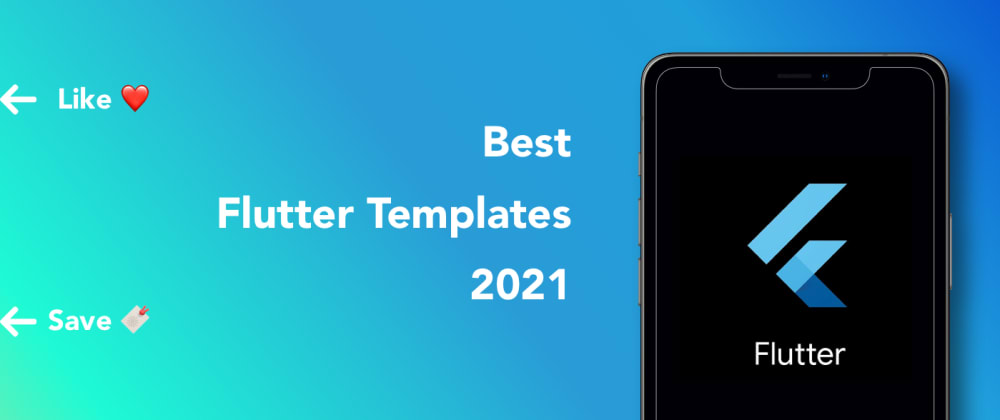 Cover image for 20 best flutter app templates 2021