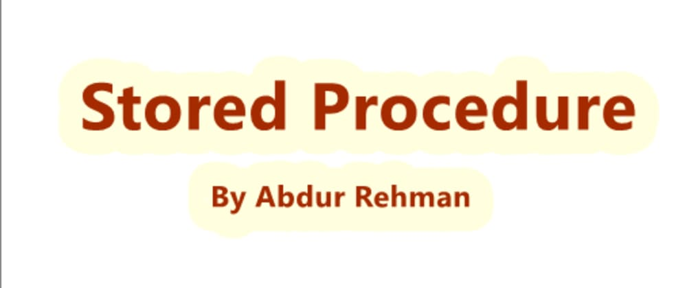 Cover image for What is Stored Procedure in SQL