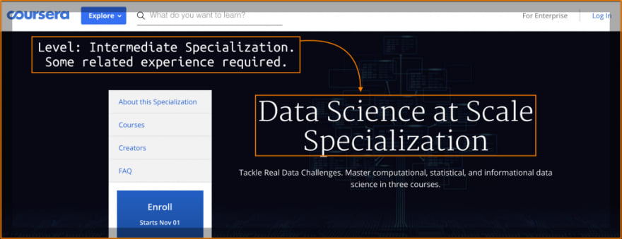 Data Science at Scale Specialization