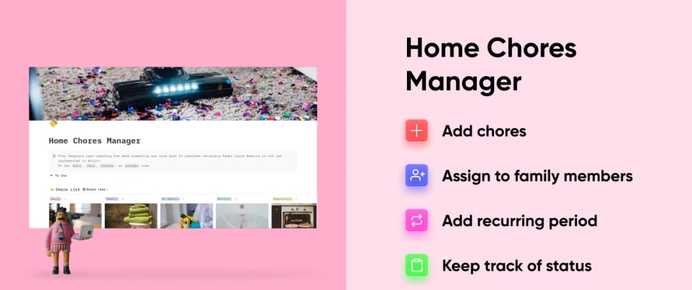 Cover Image for Manage all your home 🏡chores with this Notion Template🔥