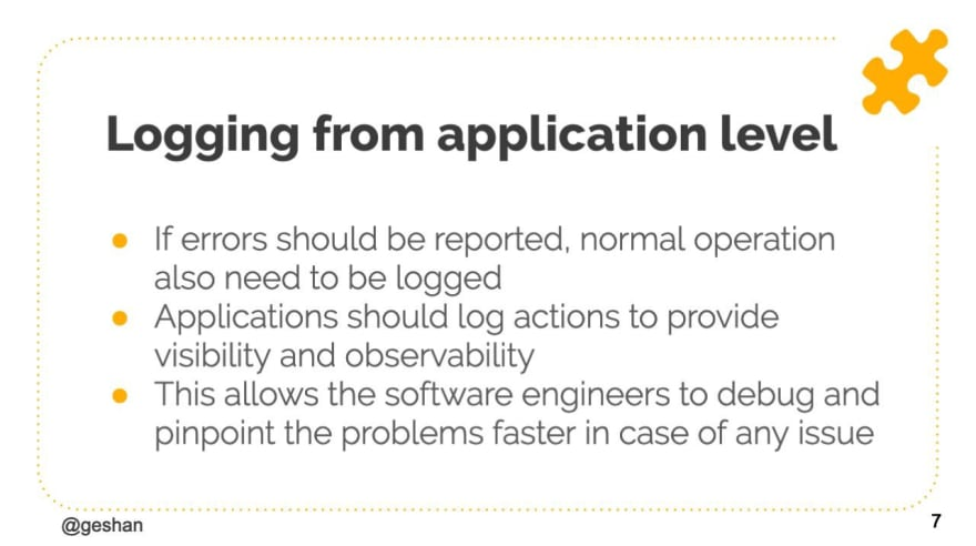 Why log from the application level