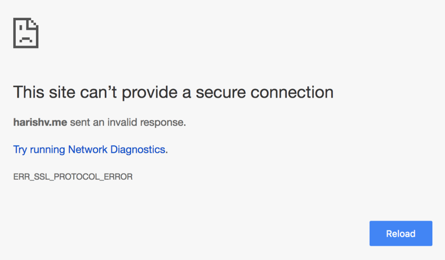 SSL Error Message