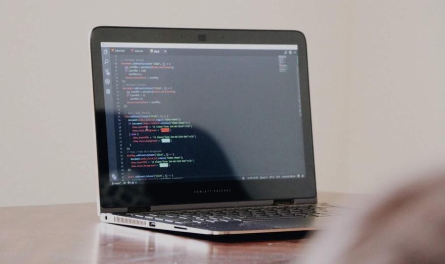 javascript on laptop