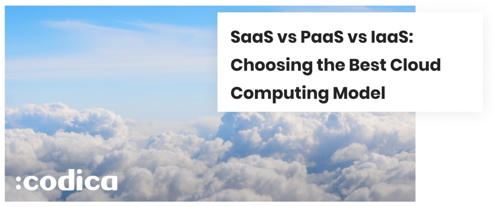 Cover image for PaaS vs IaaS vs SaaS: What's the Best Cloud Computing Model?