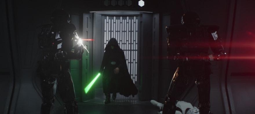 Luke Skywalker entrance