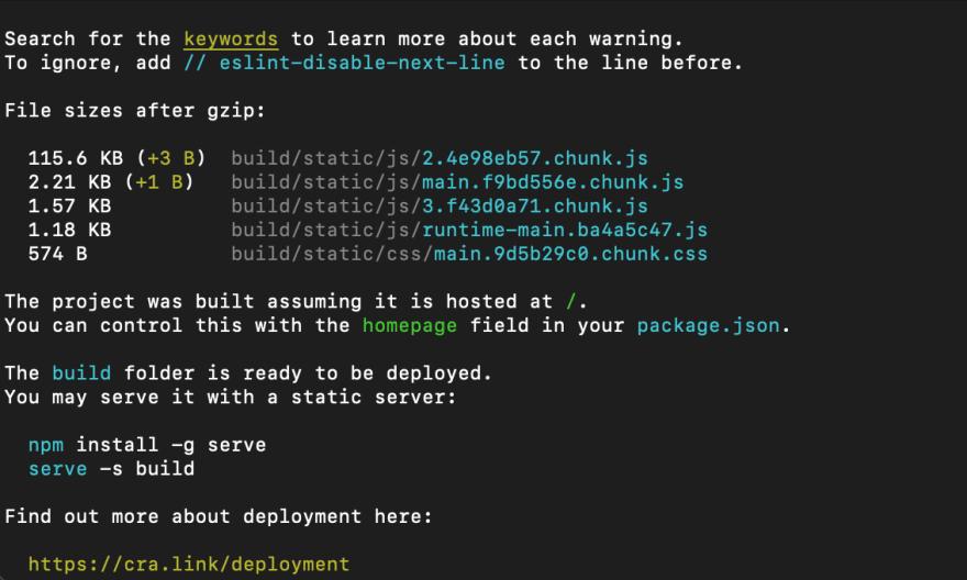 CLI-successful-react-app-build