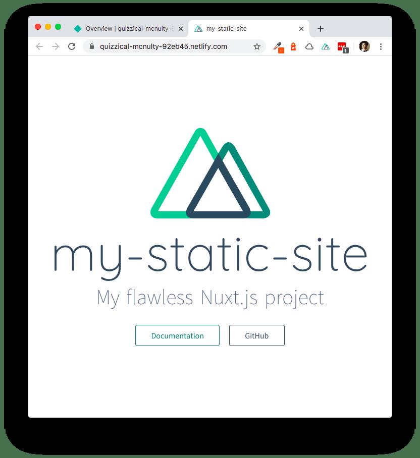 Static Site Running on Netlify