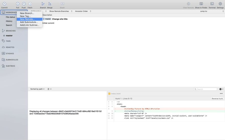 Sourcetree new remote