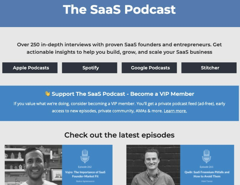 The SAAS podcast Software engineering podcast
