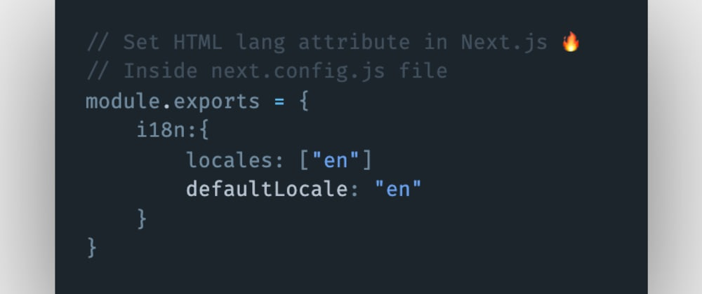 Cover image for How to set the HTML lang attribute in Next.js?