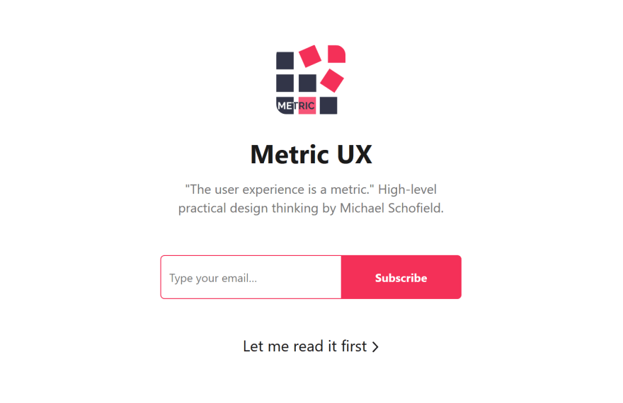 This was originally written for the Metric UX newsletter.