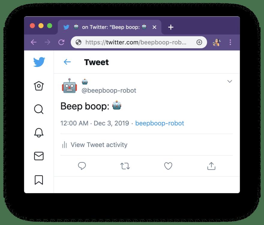Beep boop tweet