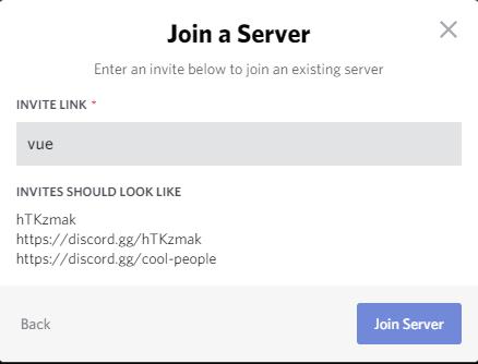 Add Vue.js communit Server