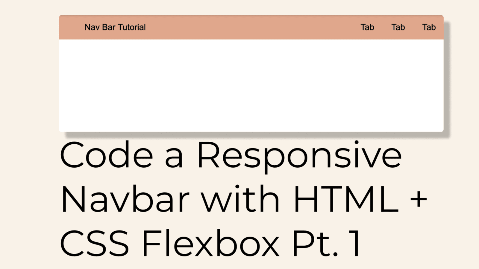 Code A Responsive Navbar With Html And Css Flexbox Pt 1 Dev