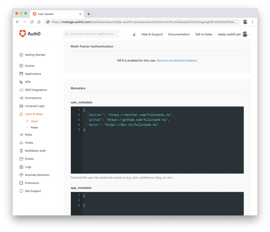 Use Auth0 to secure your NestJS application - DEV Community