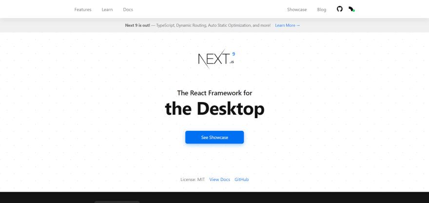 Next.js landing page