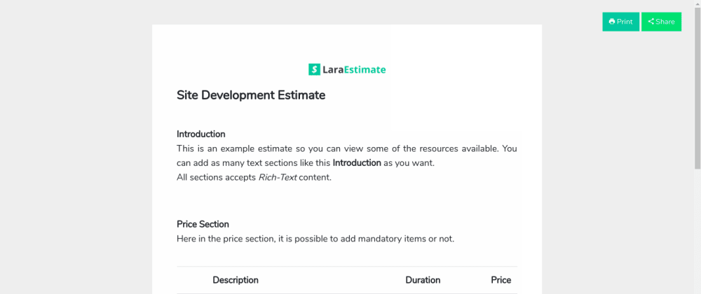 Cover image for An Open Source system to create Estimates and Quotes