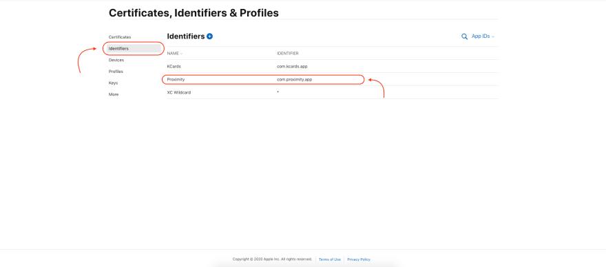 identifiers-setup