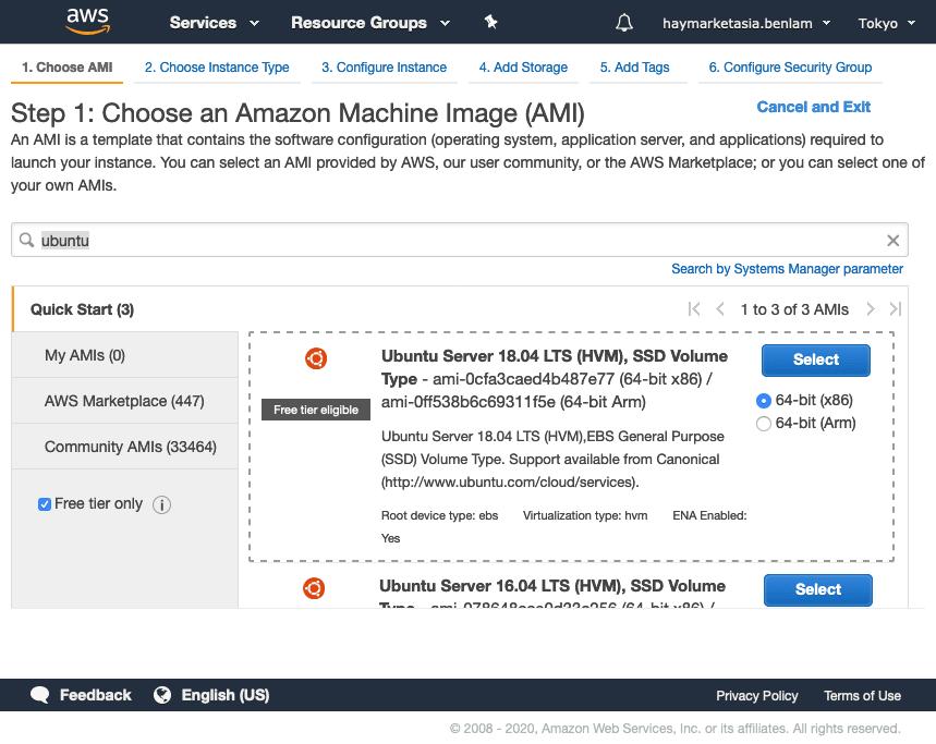 Image: Ubuntu Server 18.04 LTS