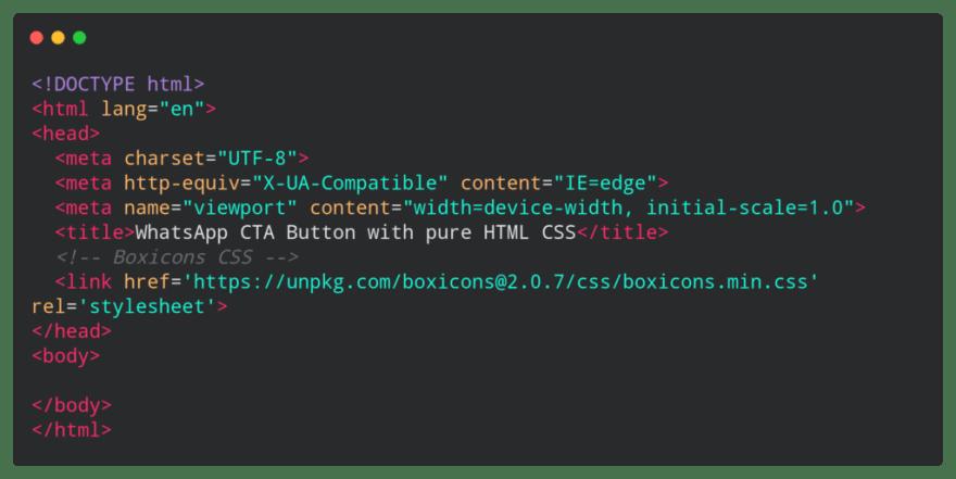 base html code for CTA