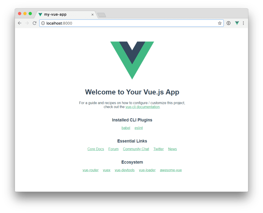 Vue App in Browser