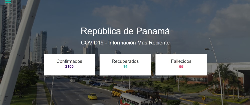 Cover image for COVID-19 Tracker for Panama made in React.js.