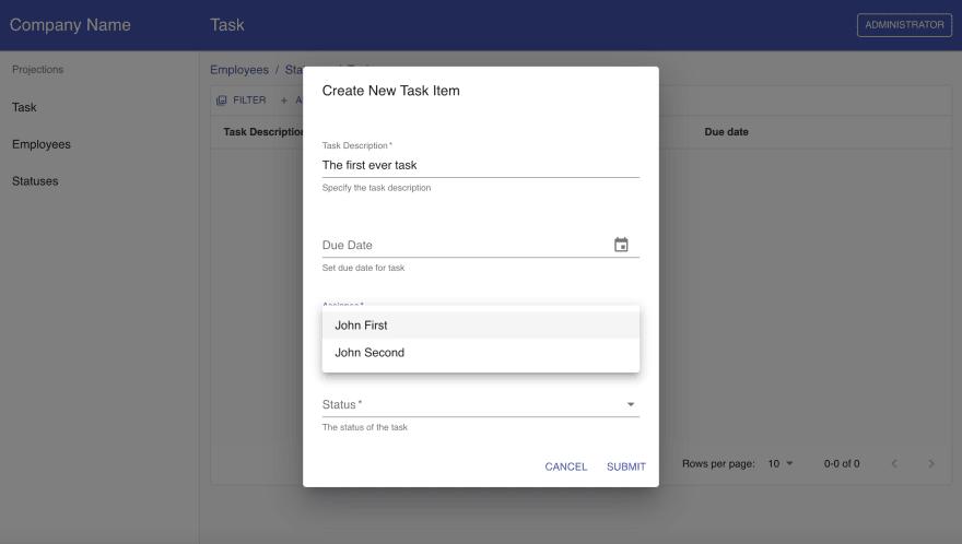 IKODIX - create new task
