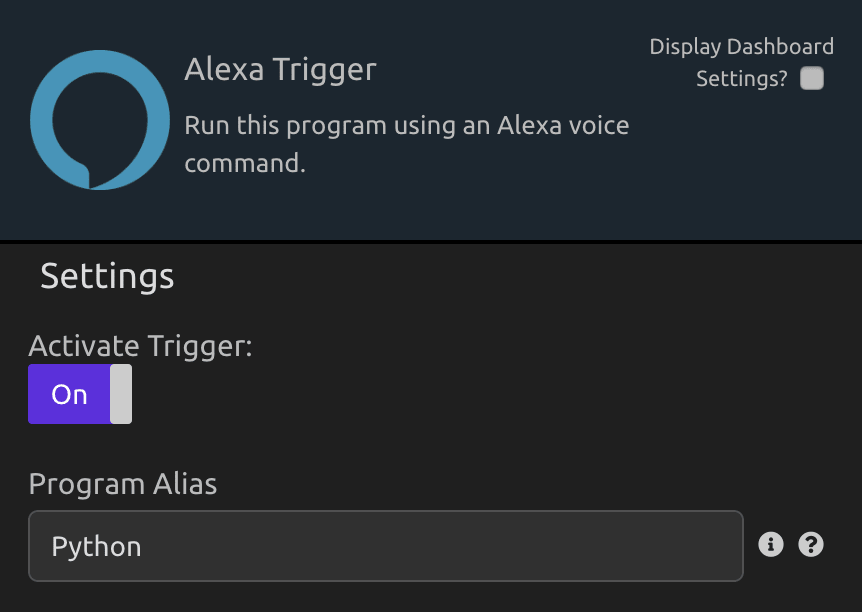 Program Alias