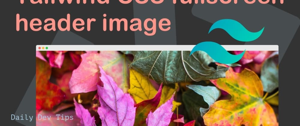 Cover image for Tailwind CSS fullscreen header image