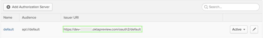 Higlighting the issuer URL.