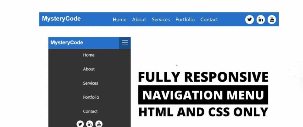 Cover image for Responsive Navigation Menu Bar Using HTML & css