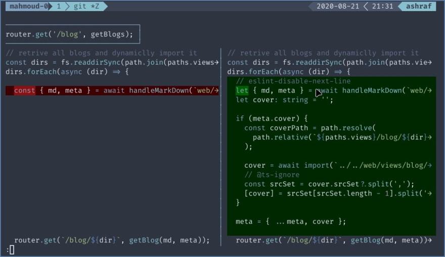 screenshot of delta